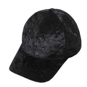 NWT Black velvet baseball cap